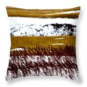 Prairie Winter Throw Pillow