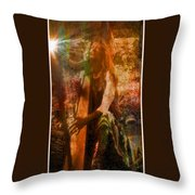 Praise Him With The Harp II Throw Pillow