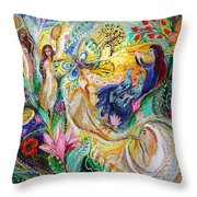 Praise Him With The Timbrel And Dance Throw Pillow