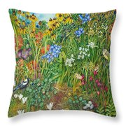 Prarie IIi Throw Pillow by Helen Klebesadel