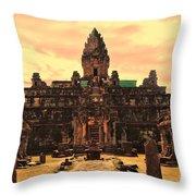 Prasat Bakong Temple I Throw Pillow