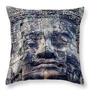 Prasat Bayon Stone Face  Throw Pillow