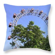 The Riesenrad Throw Pillow
