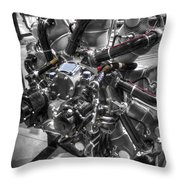 Pratt And Whitney  Engine Aeronautics Throw Pillow