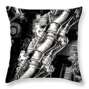 Pratt And Whitney Wasp Major  Throw Pillow
