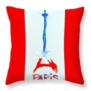 For Paris Throw Pillow