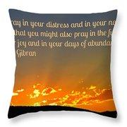 Pray Abundantly Throw Pillow