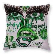 Pray For Nigeria Throw Pillow