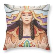 Pray For Unity Dream Of Peace Throw Pillow by Amy S Turner