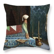 Prayer At The Sultan's Room  The Grief Of Akubar  Throw Pillow