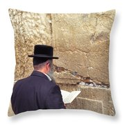 Prayer At The Western Wall Throw Pillow
