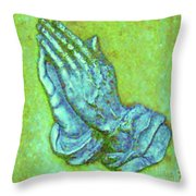Prayer 3 Throw Pillow