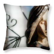 Prayerful Angel Throw Pillow