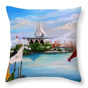 Prayers At Waterloo Throw Pillow