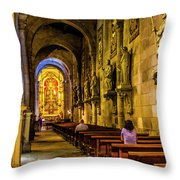 Prayers In The Cathedral Throw Pillow
