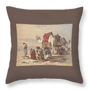 Prayers In The Desert Throw Pillow