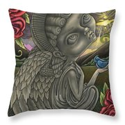 Praying For A Miracle Throw Pillow
