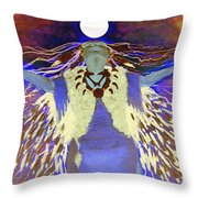 Praying Goodnight To The Moon Throw Pillow
