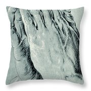 Praying Hands, Also Known As Study Of The Hands Of An Apostle  Throw Pillow