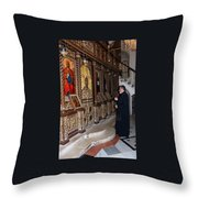 Praying In Jericho Throw Pillow