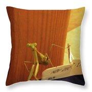 Praying Mantis II Throw Pillow