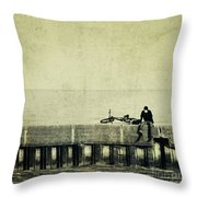 Praying To A God I Dont Believe In Throw Pillow by Dana DiPasquale