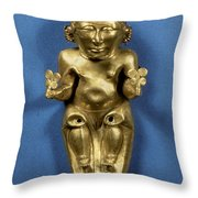 Pre-columbian Gold Throw Pillow