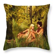 Pre-consciousness Throw Pillow by Lourry Legarde