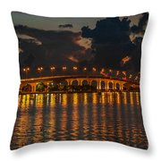 Pre-dawn Causeway View Throw Pillow
