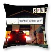 Pre-dawn Spudnut Run Throw Pillow
