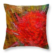 Bloom In Bits Throw Pillow