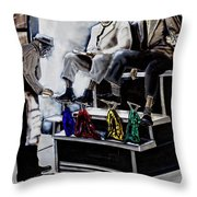Preacher Sharing Scripture Throw Pillow