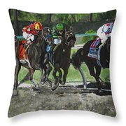 Preakness 2010 Horse Racing Throw Pillow