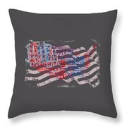 Preamble To The Constitution On Us Map Throw Pillow