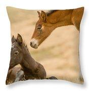 Precious Babies Throw Pillow