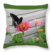 Precious Pinks Throw Pillow