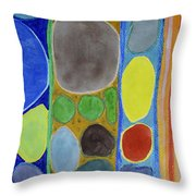 Precious Things In Colourful Stripes Throw Pillow