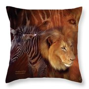 Predator And Prey Throw Pillow