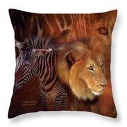 Predator And Prey Throw Pillow