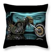 Predator Chopper Throw Pillow