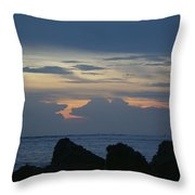 Predawn At The Jetty Throw Pillow