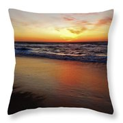 Predawn Glowing Reflection 4 412 Throw Pillow