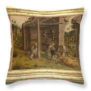 Predella Of La Madonna Della Rondine Throw Pillow