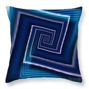 Predominantly Blue Throw Pillow