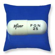 Pregabalin Lyrica Capsule Throw Pillow