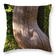 Pregnant Tree Throw Pillow