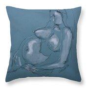 Pregnant Woman II Throw Pillow