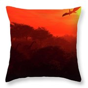 Prehistoric Dawn Throw Pillow