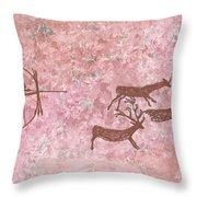Prehistoric Hunter Throw Pillow