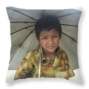 Prepared For Rain Throw Pillow